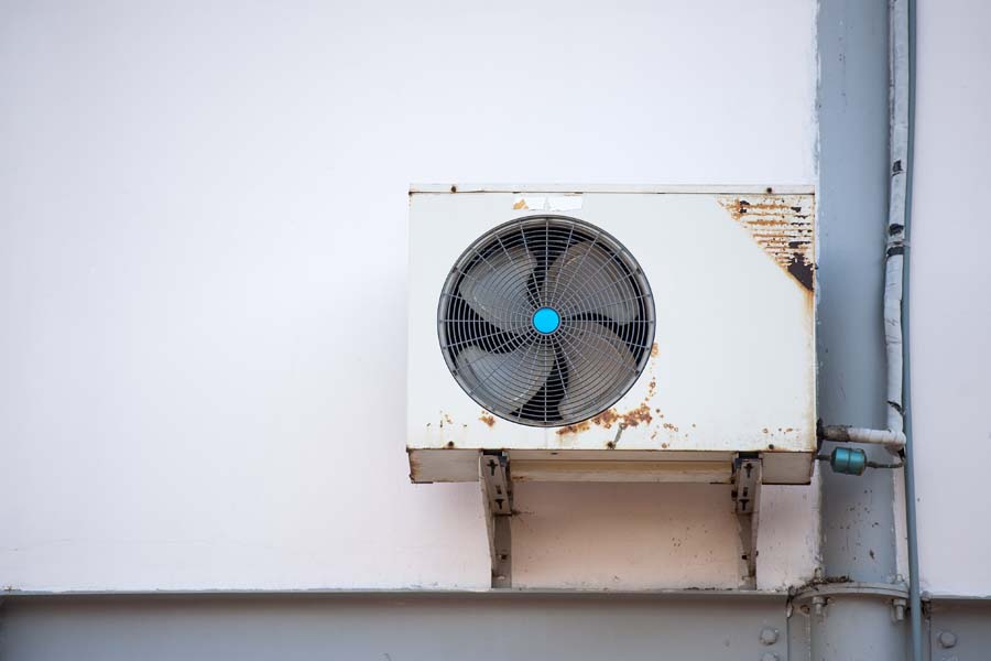 Air Conditioning Equipment outside of an Hold House.