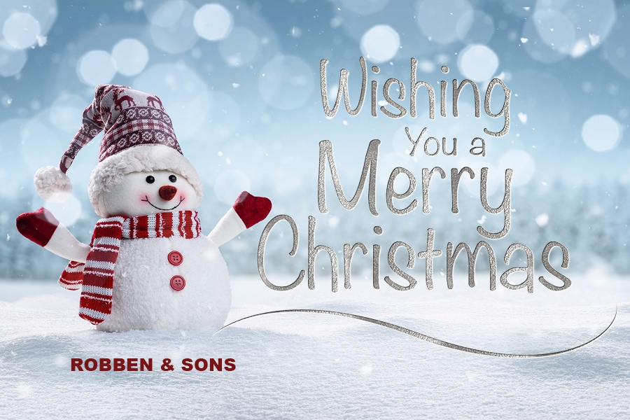 Merry Christmas from the Robben & Sons family.
