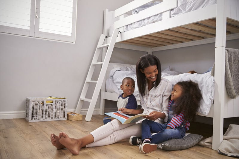Mother and Kids enjoying time together in their home showing why indoor air quality is important.